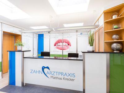 Zahnarztpraxis Krecker Rezeption front